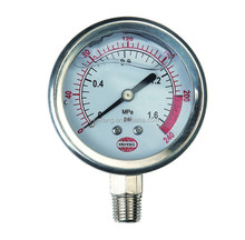 Bottom Mounting Oil-Filled Pressure Gauge
