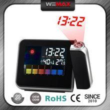 New Arrived Custom Printed Logo Full Color Led Projection Alarm Clock