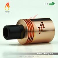 Hot selling better Copper material Unicig Authentic Brand indulgence mutation X V2 copper RDA e cigarette