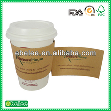 insulated paper cup sleeve for hot coffee packing