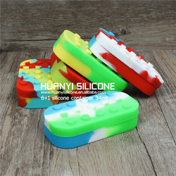 Electronic cigarette Gift Box Silicone Jars Dab Wax Container, Food Grade Silicone Wax Jar Wholesale