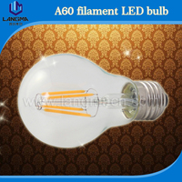 Langma Best selling products in America A60 4W 6W 8W E26 E27 B22 220v 240v led filament bulb dimmable CE ROHS TUV