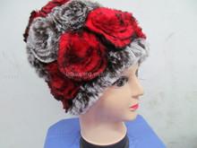 Custom hot sellig fashion mink fur scarf fashionable canadian winter hats