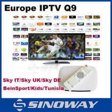 Cheap Euro iptv box 520+ channels Android 4.4 set top box hot ART Cinema/Kids/BeInSport/CANAL SAT channels hot for France