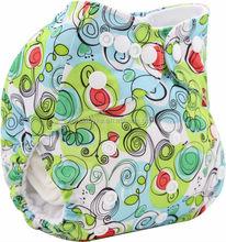 Ohbabyka One Size New Minky Print Washable Senior Adult Cloth Diapers Import