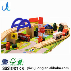 wooden kids toy urban traffic scene combination wooden toy train track