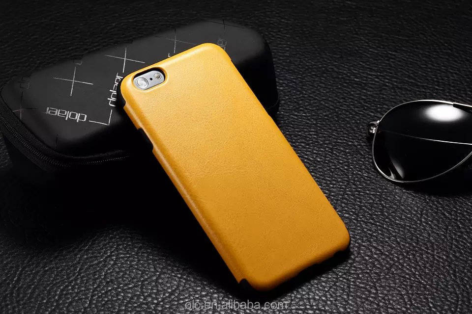 2014 NEW Luxury Double Colors PU Leather case for iphone 6