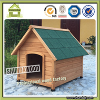 SDD04 Nature Painting Waterproof Wooden Dog Kennels