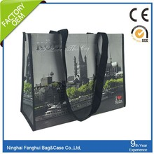 Eco-friendly cheap promotional manufacturer non woven tote bag shopping bag