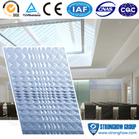 Toilet bathroom building material of easy install 3d texture wall panel