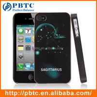Cheap Hard Case For Iphone 4 , Sagittarius Plastic Mobile Case Cover