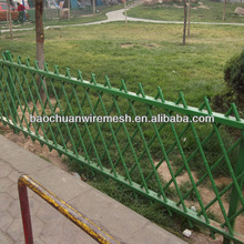 Plastic coated decorative and protection fence