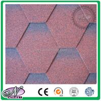 Fiberglass asphalt roofing Shingles coloured glaze 5 tab asphalt shingle for wholesales