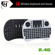 2.4GHZ i8 keyboard Rii i8 mini fly mouse Rii i8 wireless mini keyboard for android tv box
