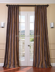 western style polyester stripe fabric window curtains