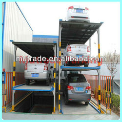 Pit multiple safety protection mechanical parking device