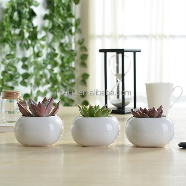 Indoor Decor Mini White Ceramic 2 Inch Flower Pots Buy 2