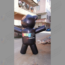 black white inflatable bear outdoor inflatable advertising events cartoon bear