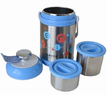 New design round stainless steel lunch food container thermos tiffin box