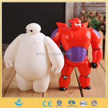 pvc vinyl toy factory custom made white action figure and super power robot