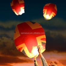 Eco-friendly England flag flying sky lantern
