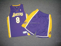 Professional high quality classic mens 100% Polyester Applique Embroidery Basketball jersey and shorts