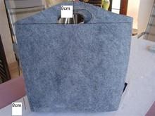 Fabbrica diretta nuovo design grigio/colore verde feltro in poliestere tote bag per shoppoing