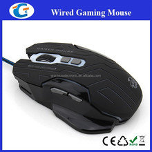 High quality black wired optical gaming mouse