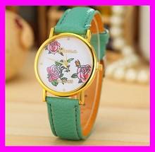 Unique design high quality fashion european style leather ladies fashion geneva wrist watches trendy HD1988
