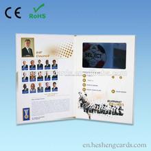 Tarjeta de la invitación del grado superior fuente de la fábrica 4.3inches publicidad boda de vídeo productos ideales tarjetas d
