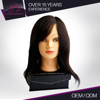 Salon Natural 100% Human Hair Mannequin Doll Training Head Practice Head Wholesale