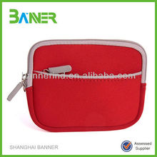 Promotional neoprene hand wallet zipper cheap change purse