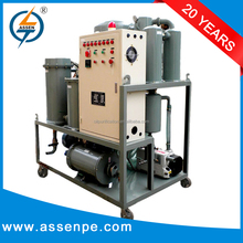 High vacuum one stage portable oil filtration systems, vacuum oil purifier plant