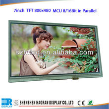 1024x600 TFT LCD module 7 inch lcd display with 40pin