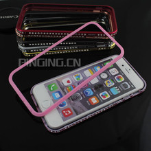 for iphone 6 Metal Bumper Case, Aluminum Metal Diamond Frame Case for iphone 6
