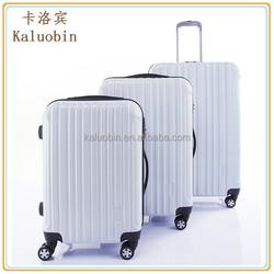 20 inch waterproof travel white PC trolley case luggage 4 wheels/eminent luggage/luggage trolley