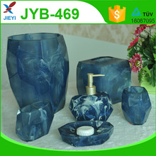 Simple style luxury faux marble bath accessory