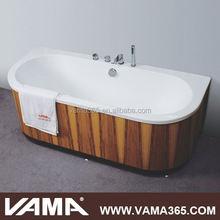 VAMA VY-2904B soaking acrylic wooden bathtub outdoor