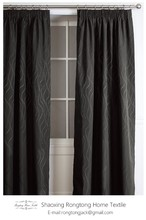 European style hot selling high quality water ripple coated blackout curtain