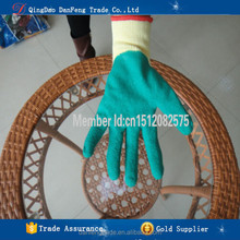 DANFENG XC209 New products cut resistant cotton lined latex gloves