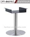 moderno em aço inoxidável metal de madeira e bases de mesa