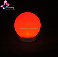2015 soft silicon Ball Shaped Mini Portable Bluetooth Speaker With Memory Card Slot smart phone app control