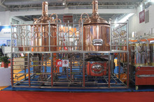 Micro hotel/bar/pub draft red copper beer brewing equipment