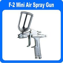 Hvlp f2 0.5 mm mini de alimentación por gravedad pistola de aire