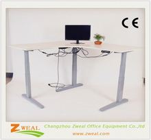 modern l-shape executive desk/office furniture tabletop book display stands tall stainless office desk