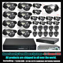 Security Camera Set 700tvl Cctv Kamera Kit DVR System 32CH