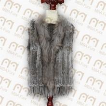 rabbit fur gilet for women