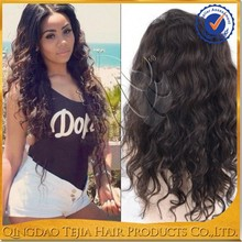 Cheap on sale body wave 100 brazilian human hair full lace wig natural scalp wig