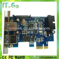 PCI Express USB 3.0 4 ports Card 19pin Header