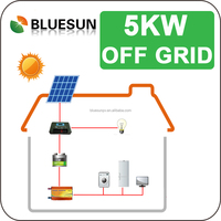 Durable off grid solar adjustable roof mounting system 5kw for area with power interruption